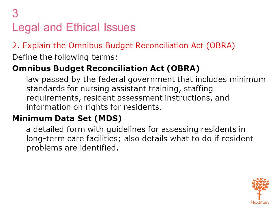 2. Explain the Omnibus Budget Reconciliation Act (OBRA)