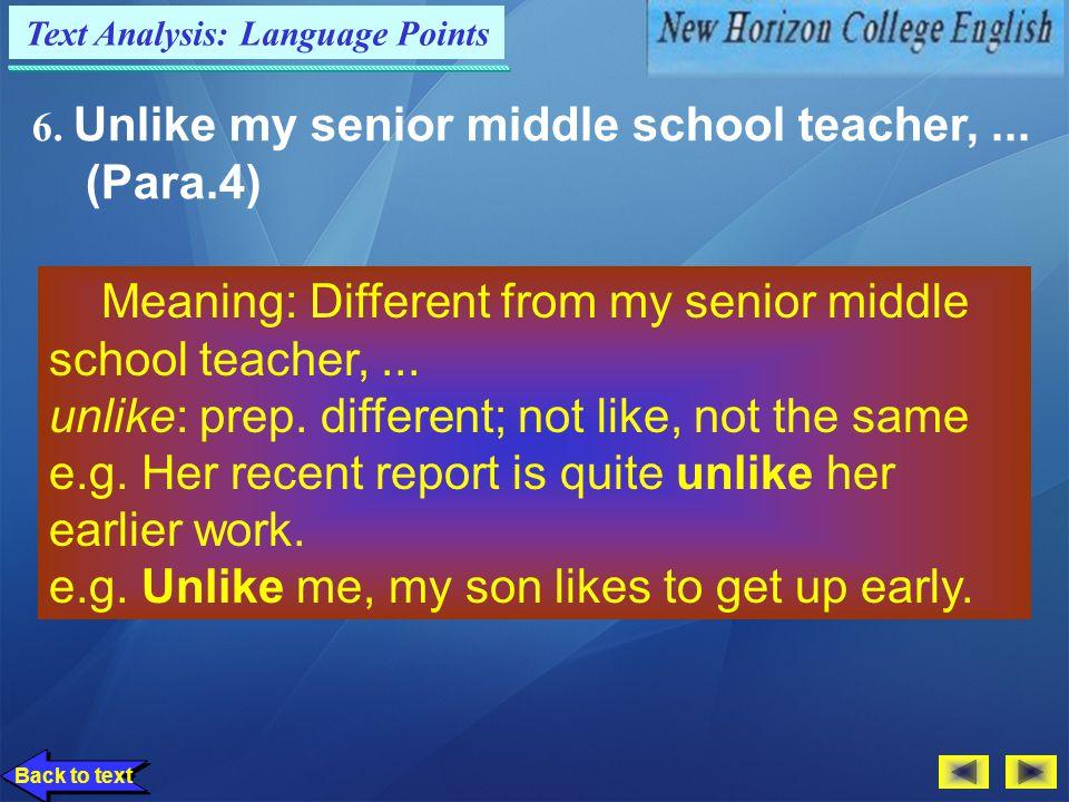 Text Analysis: Language Points