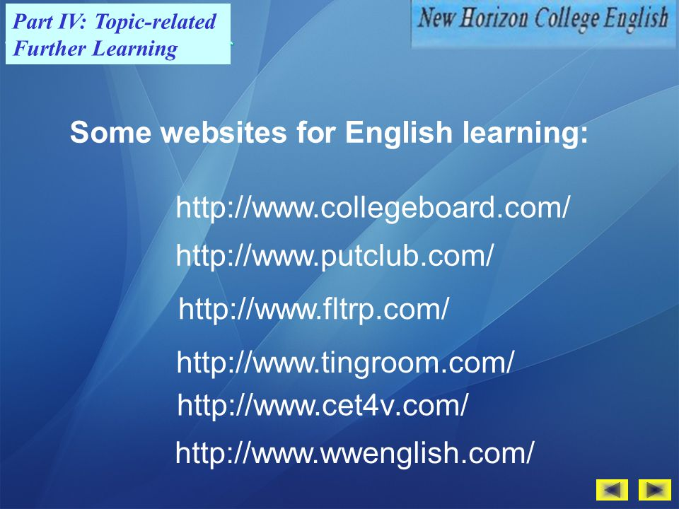 Some websites for English learning: