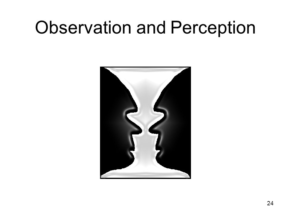 Observation and Perception