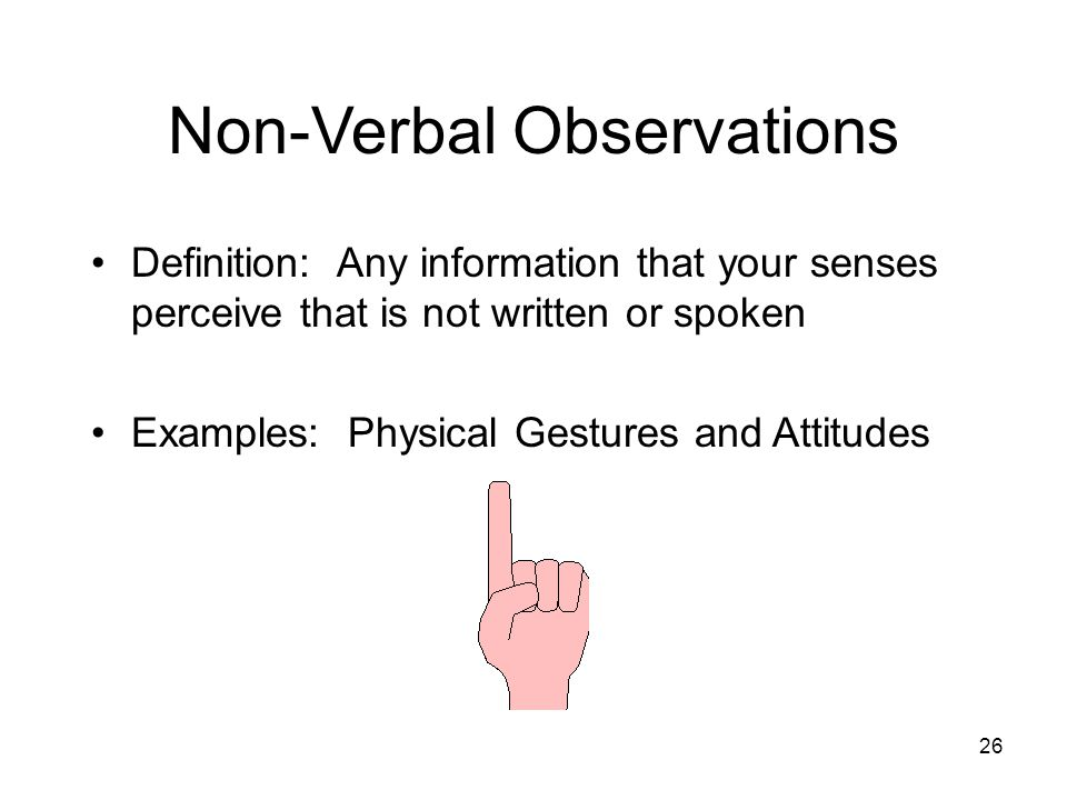 Non-Verbal Observations