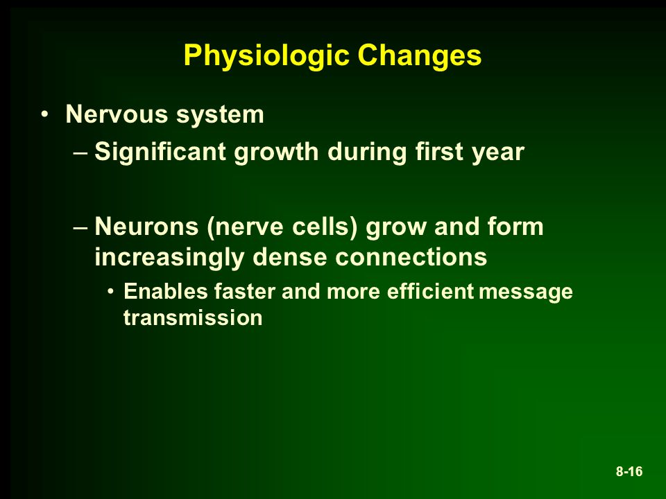 Physiologic Changes Nervous system