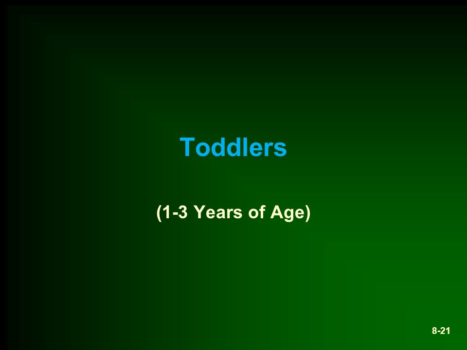 Toddlers (1-3 Years of Age)