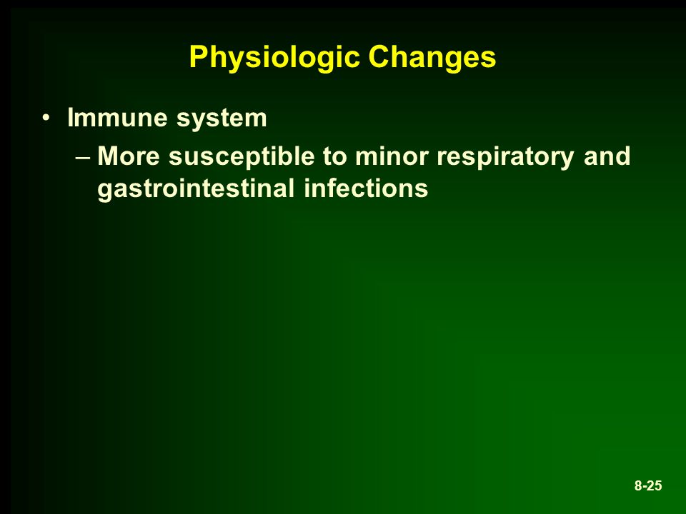 Physiologic Changes Immune system