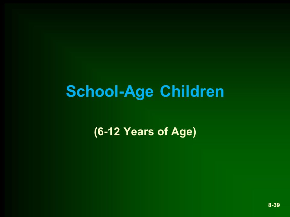 School-Age Children (6-12 Years of Age)