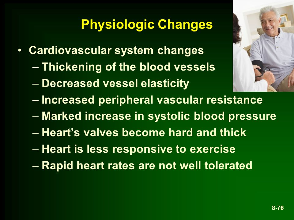Physiologic Changes Cardiovascular system changes