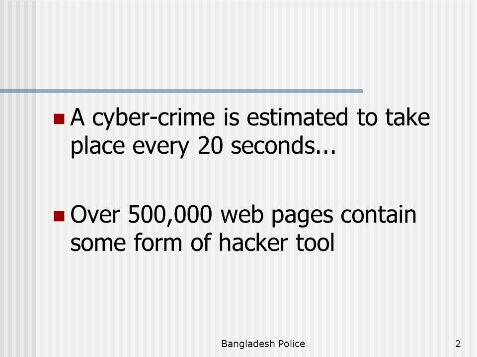 A cyber-crime is estimated to take place every 20 seconds...