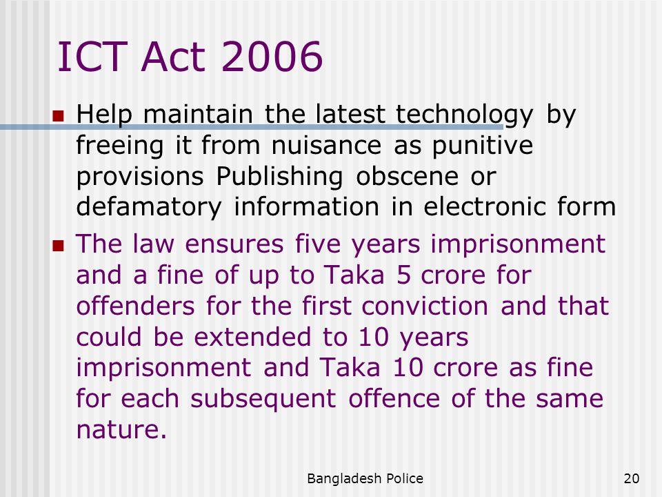 ICT Act 2006