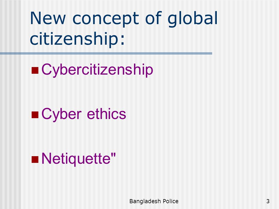New concept of global citizenship: