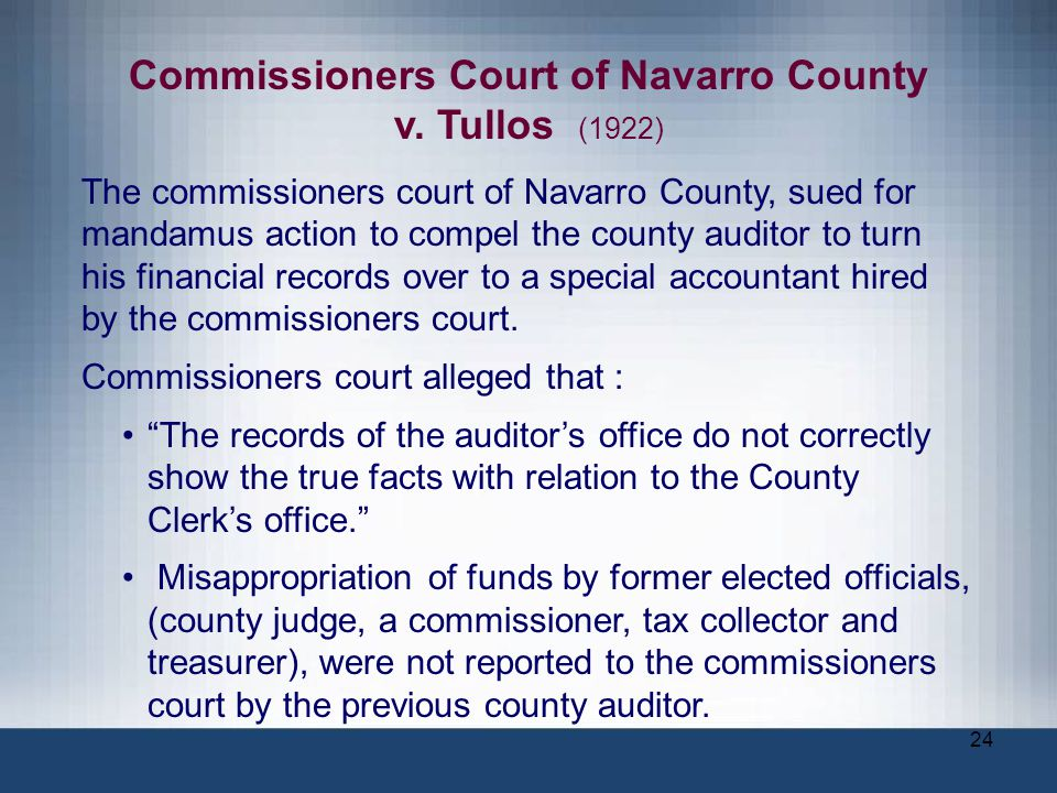 Commissioners Court of Navarro County