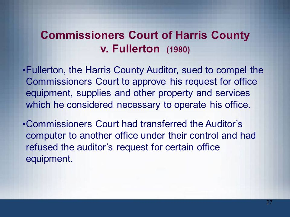 Commissioners Court of Harris County