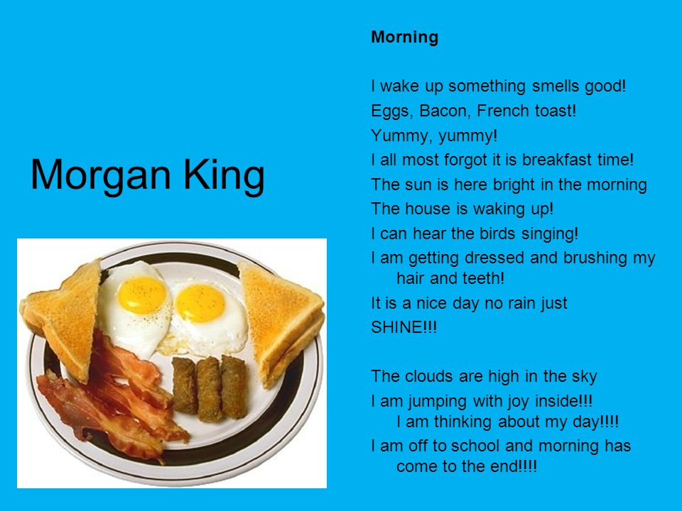 Morgan King Morning I wake up something smells good!