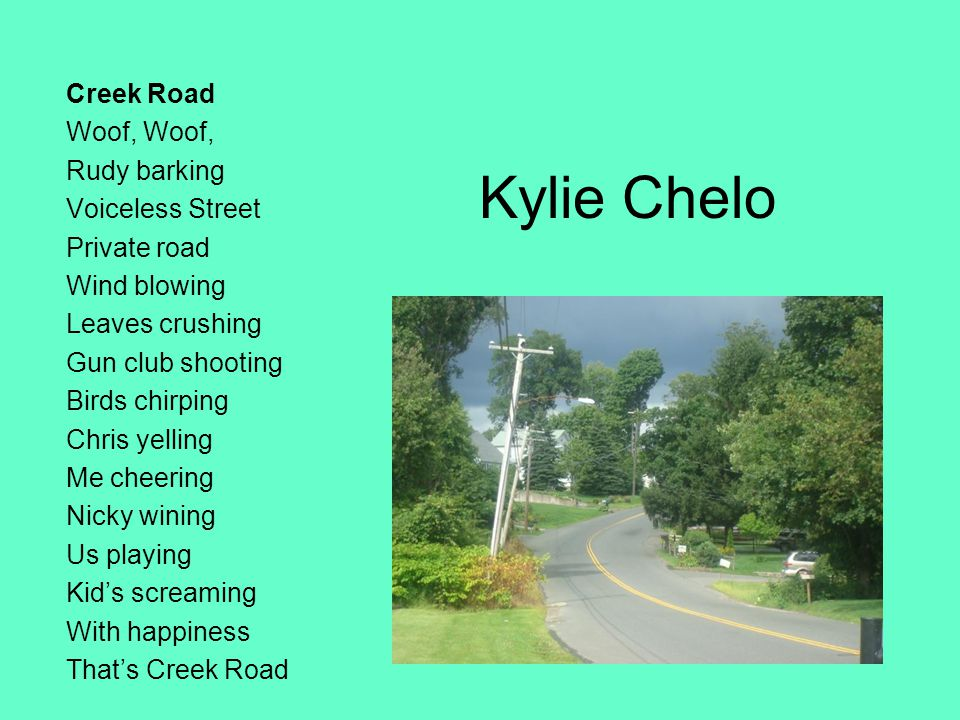 Kylie Chelo Creek Road Woof, Woof, Rudy barking Voiceless Street