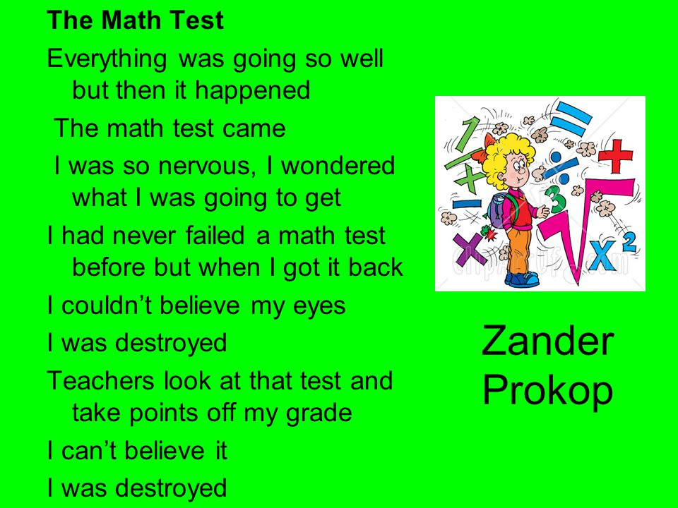 Zander Prokop The Math Test