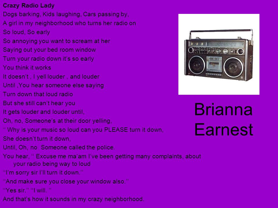 Brianna Earnest Crazy Radio Lady