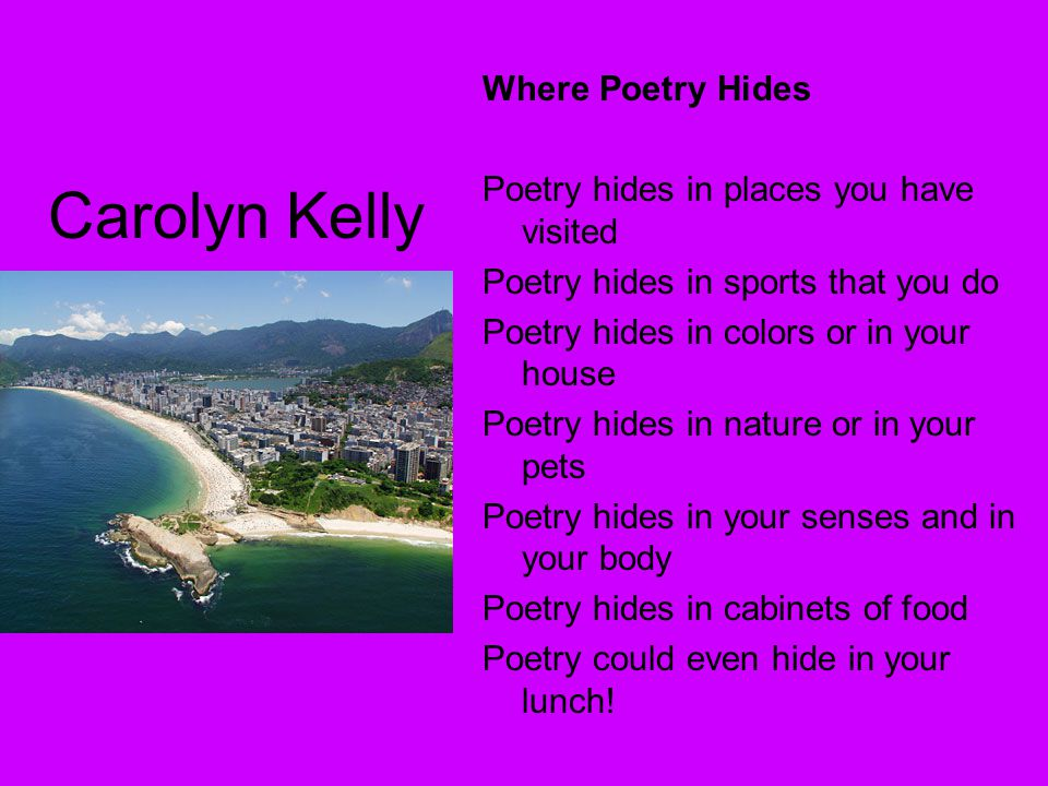 Carolyn Kelly Where Poetry Hides