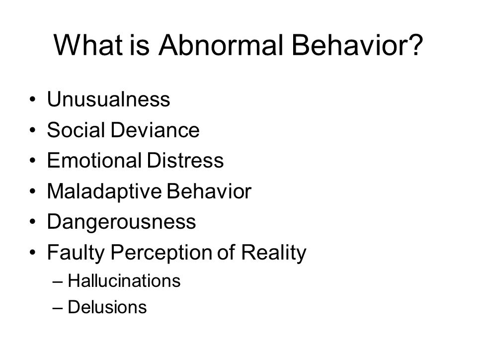What is Abnormal Behavior