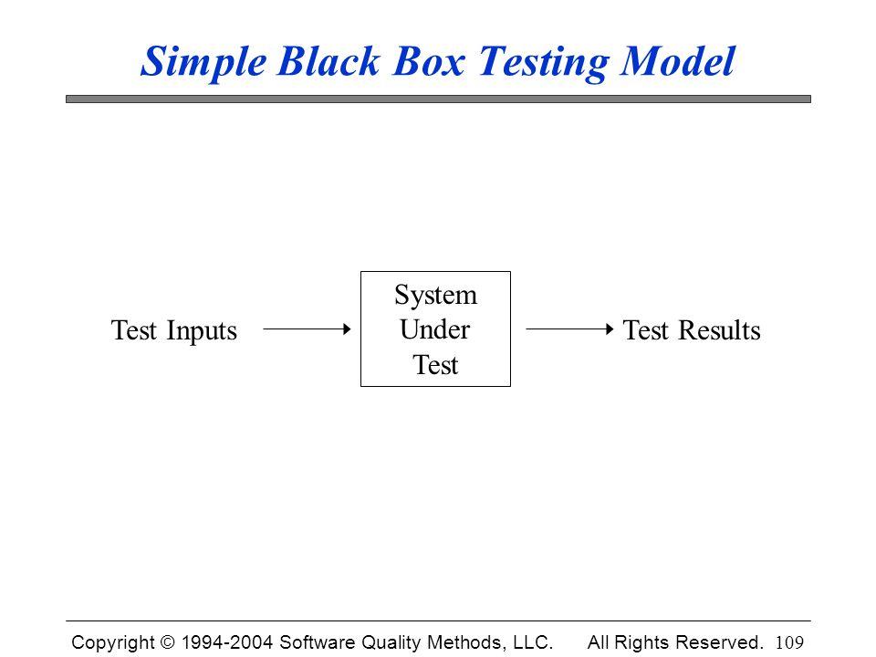 Simple Black Box Testing Model