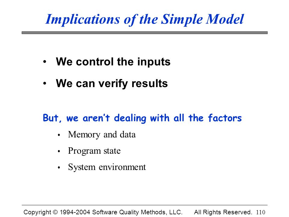 Implications of the Simple Model