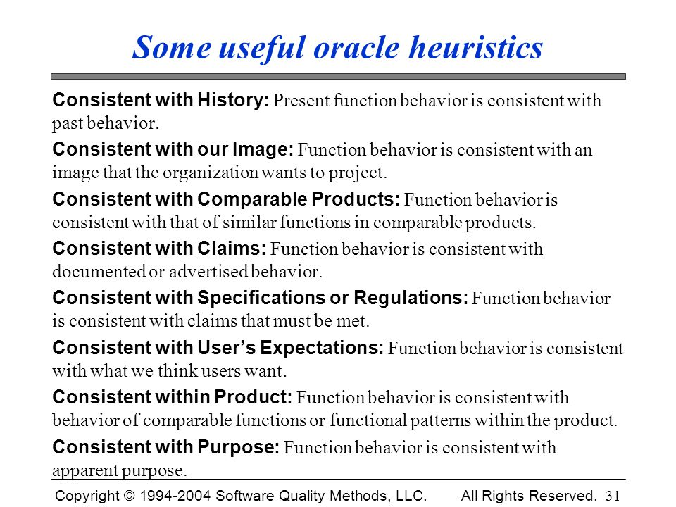 Some useful oracle heuristics
