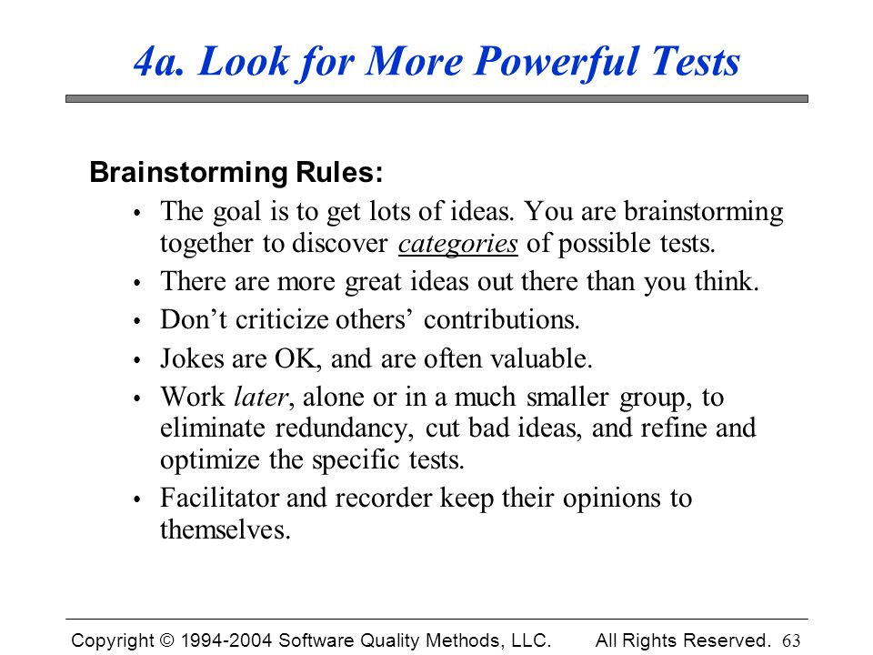 4a. Look for More Powerful Tests