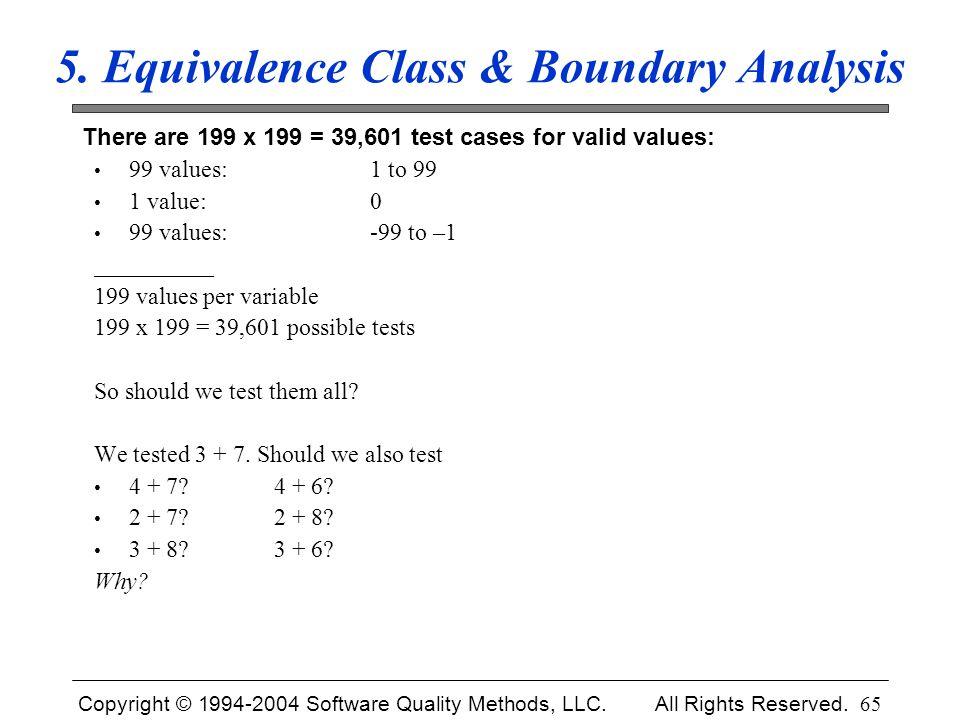5. Equivalence Class & Boundary Analysis