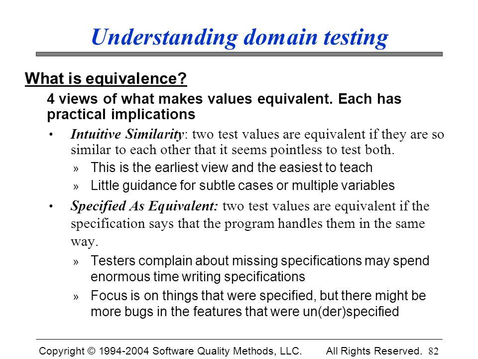 Understanding domain testing