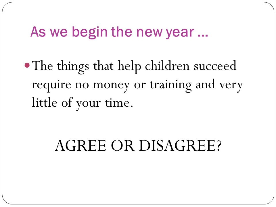 As we begin the new year …