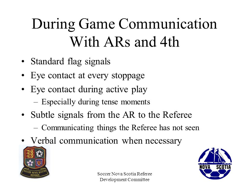 During Game Communication With ARs and 4th