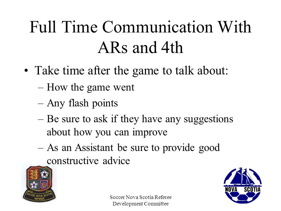 Full Time Communication With ARs and 4th