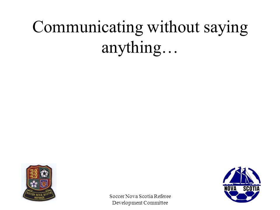 Communicating without saying anything…