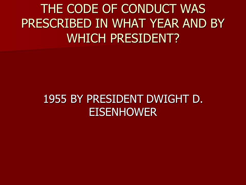 1955 BY PRESIDENT DWIGHT D. EISENHOWER