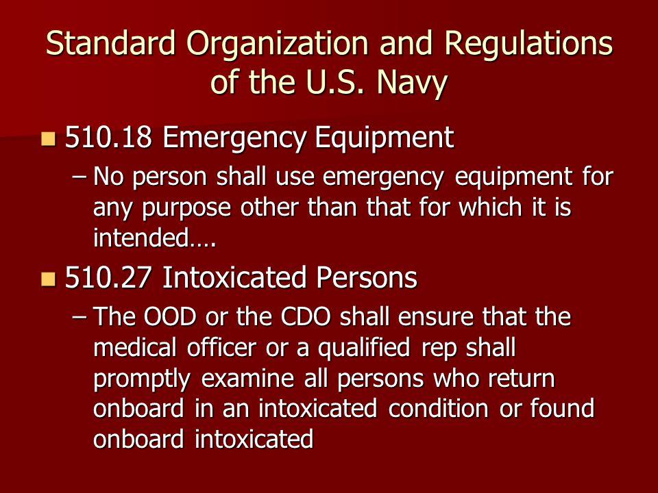 Standard Organization and Regulations of the U.S. Navy
