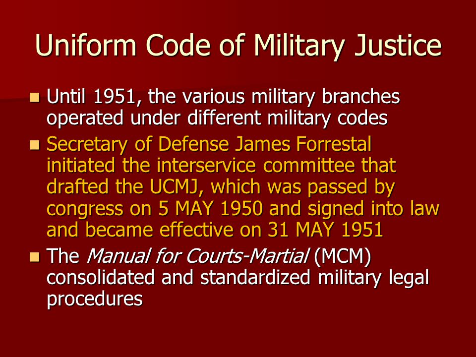 Uniform Code of Military Justice