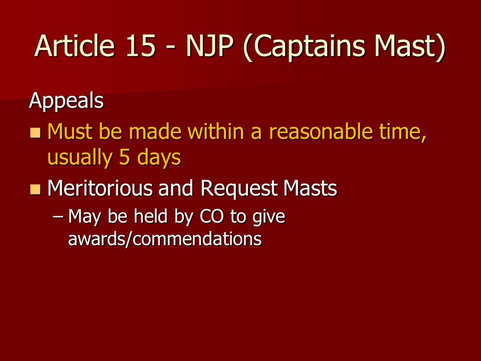Article 15 - NJP (Captains Mast)