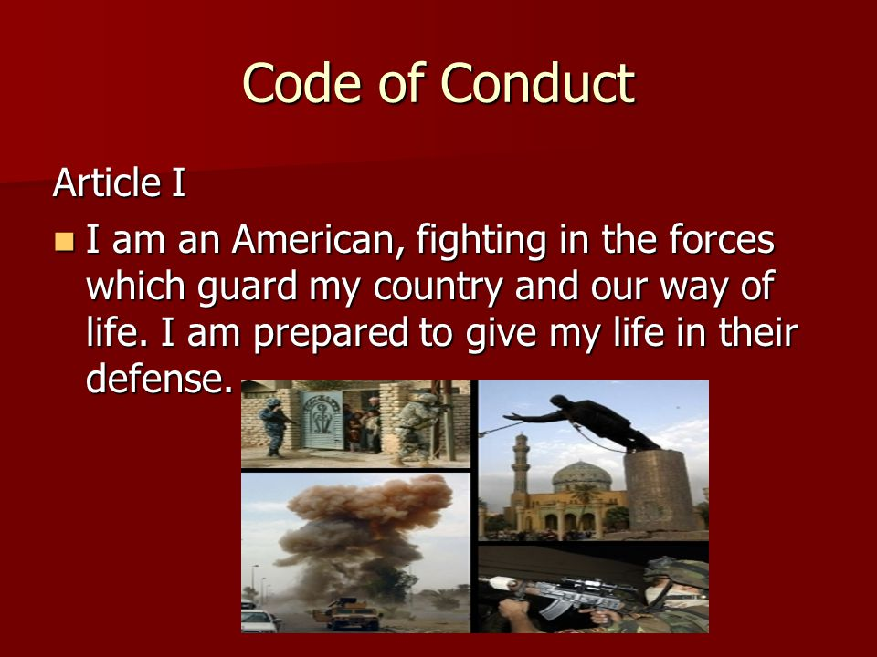 Code of Conduct Article I