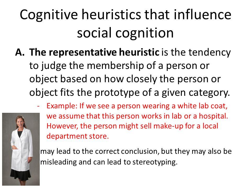 Cognitive heuristics that influence social cognition