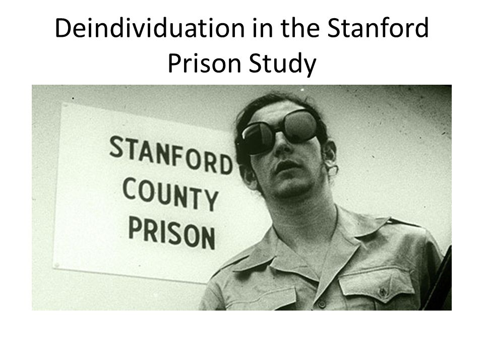 Deindividuation in the Stanford Prison Study