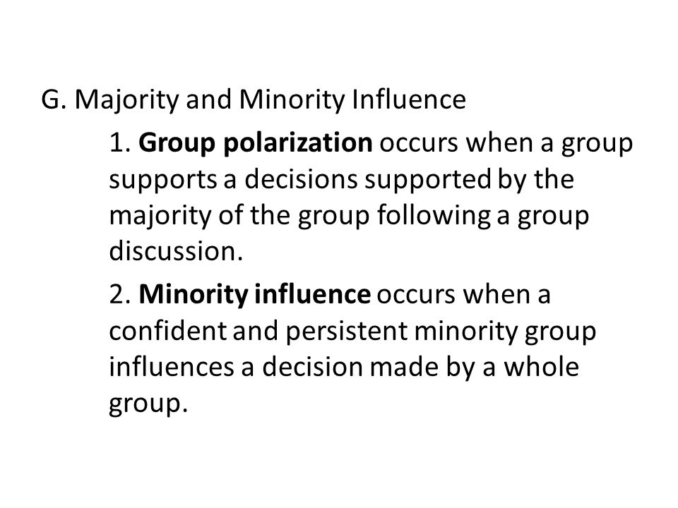 majority or minority influence essay Majority or minority influence essay this essay concerns social influence in general aspects of social influence as such as majority influence and minority influence will be discussed in.