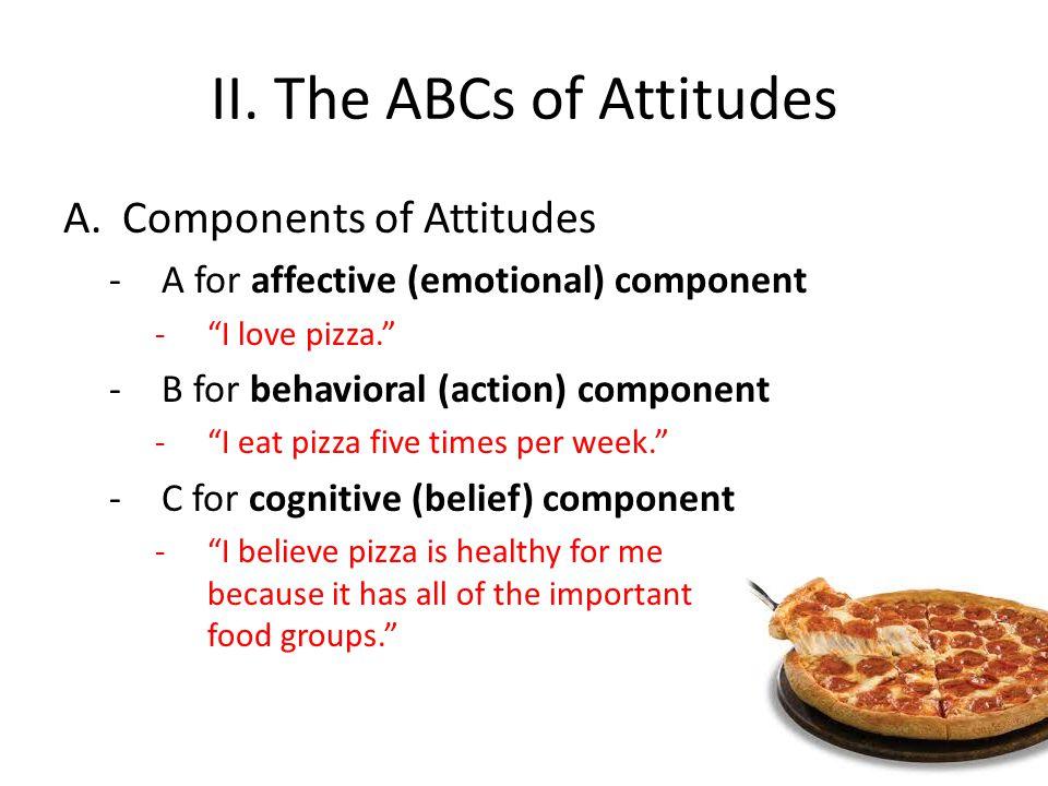 II. The ABCs of Attitudes