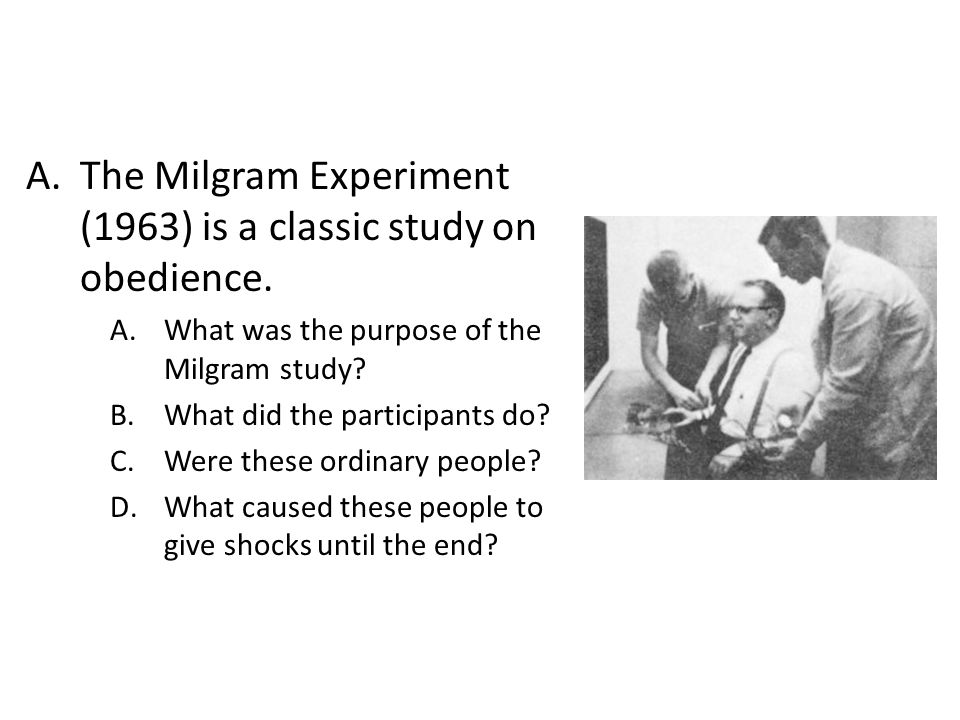 The Milgram Experiment (1963) is a classic study on obedience.