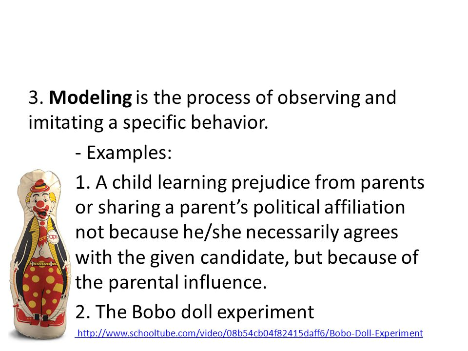 2. The Bobo doll experiment