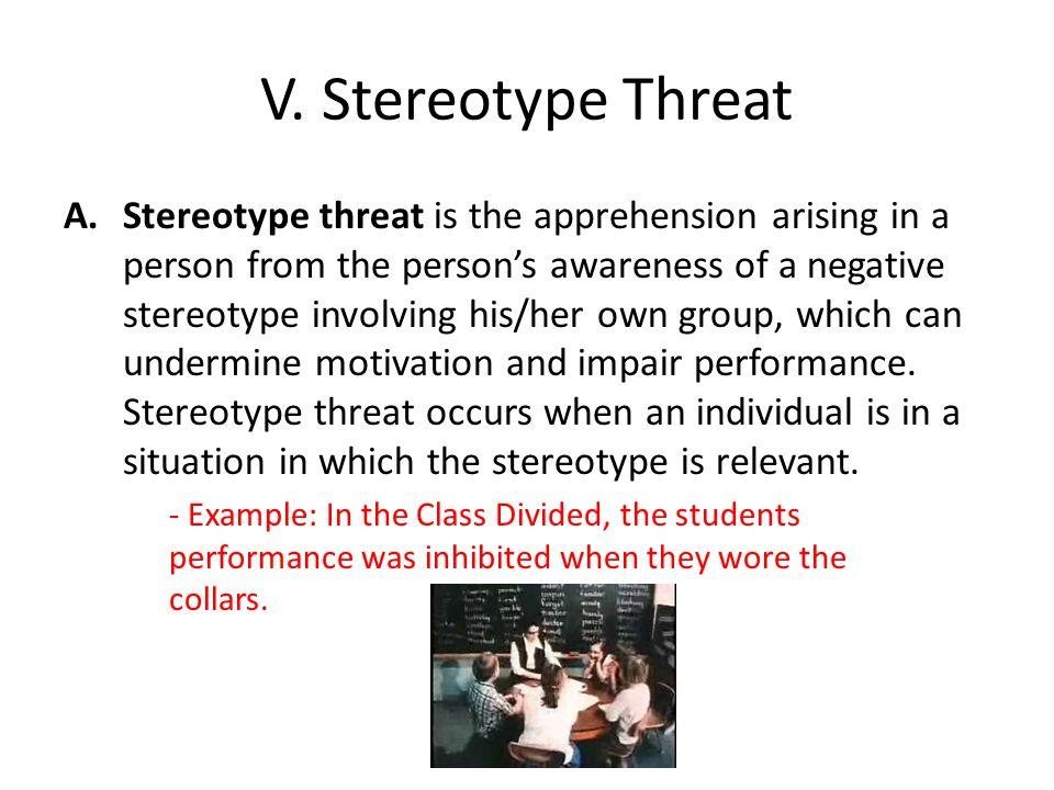 V. Stereotype Threat