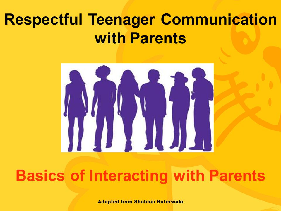 Respectful Teenager Communication with Parents