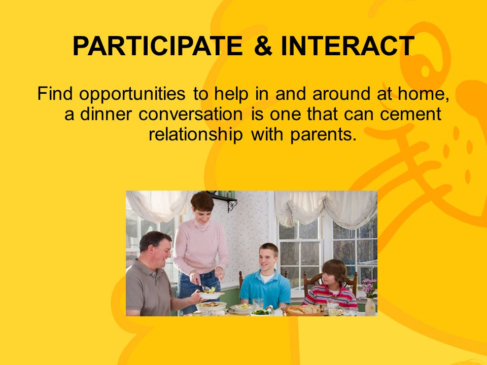 PARTICIPATE & INTERACT