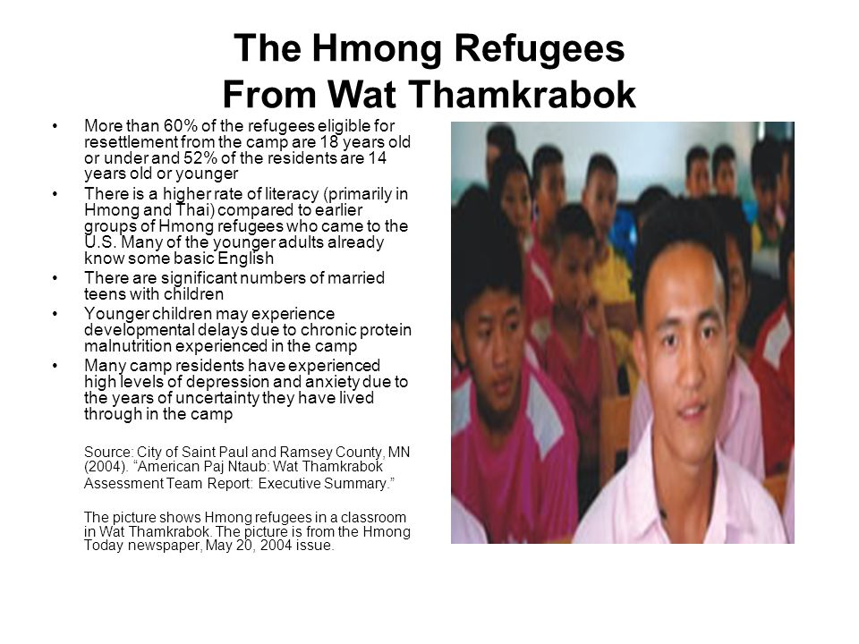 The Hmong Refugees From Wat Thamkrabok