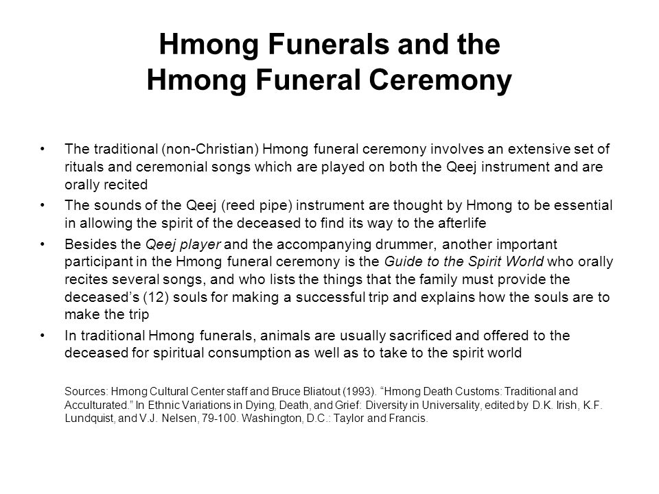 Hmong Funerals and the Hmong Funeral Ceremony