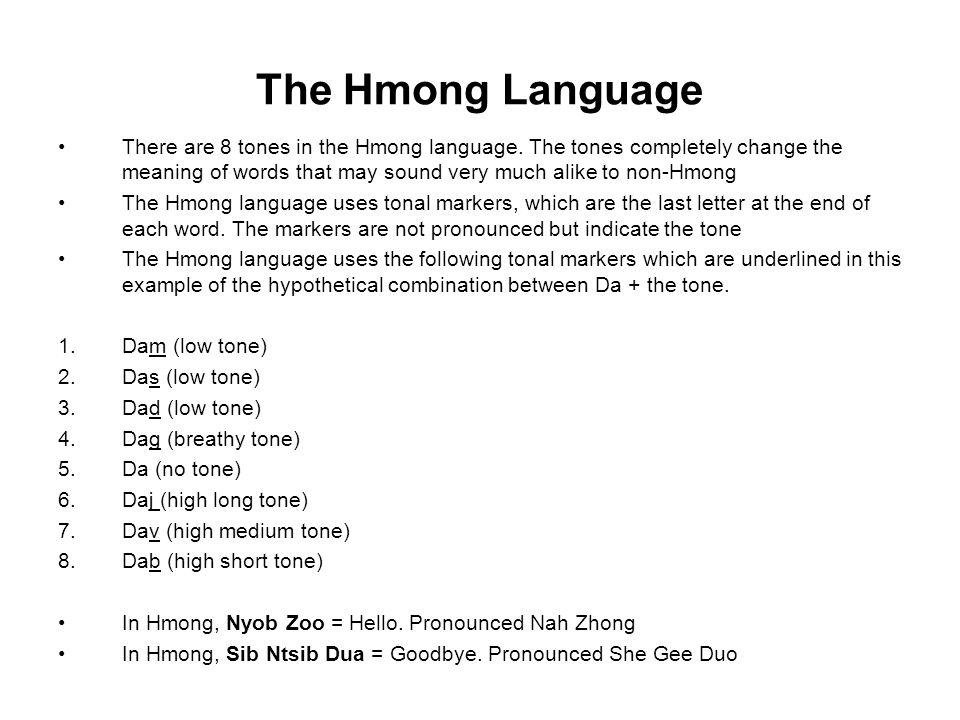 The Hmong Language
