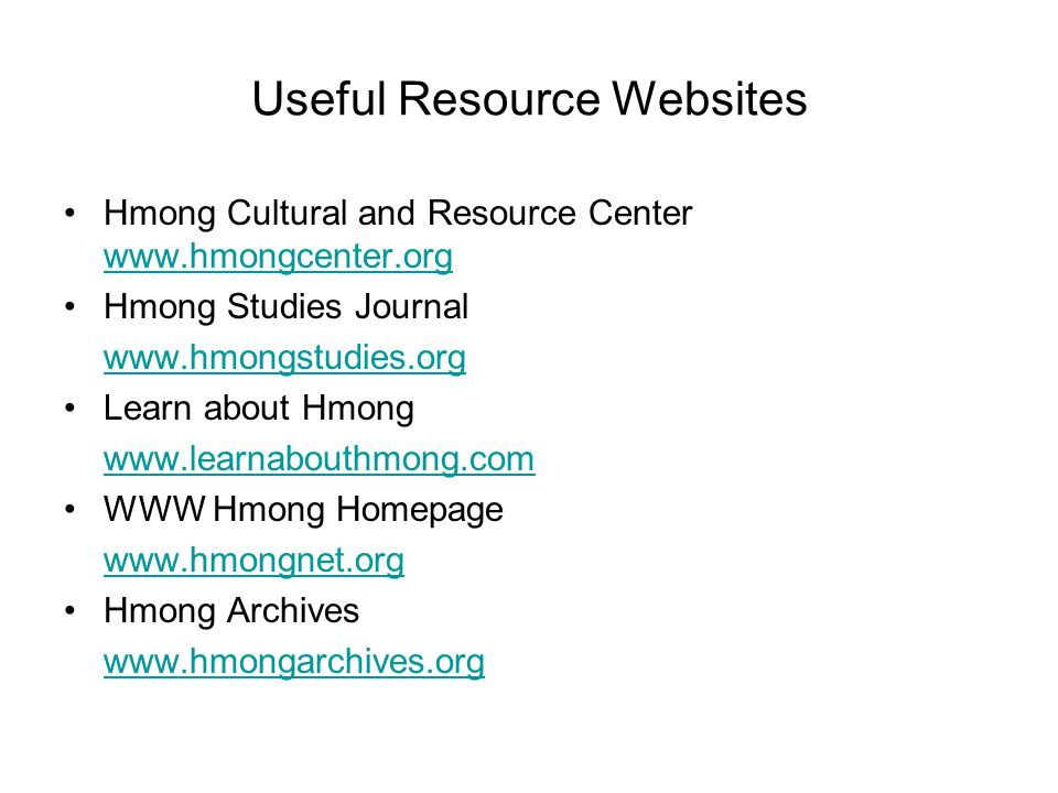 Useful Resource Websites