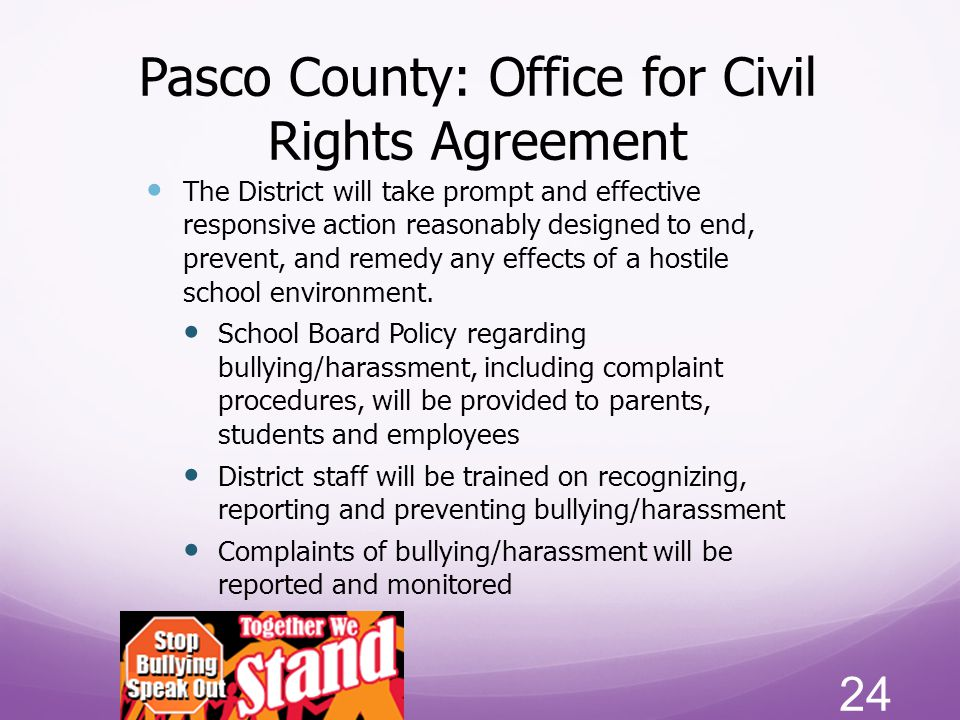 Pasco County: Office for Civil Rights Agreement